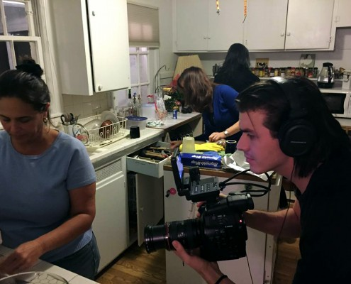 Filming in Kitchen